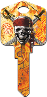 Skull and Swords Key