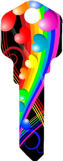 Rainbow Hearts Key