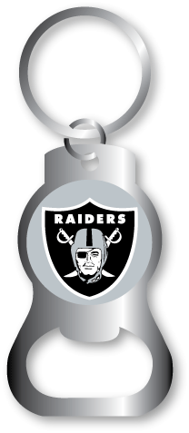 Oakland Raiders Bottle Opener Keychain