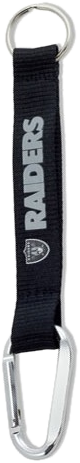 Oakland Raiders Short Keychain