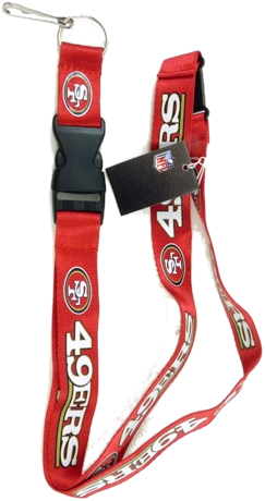 Red San Francisco 49ers Lanyard