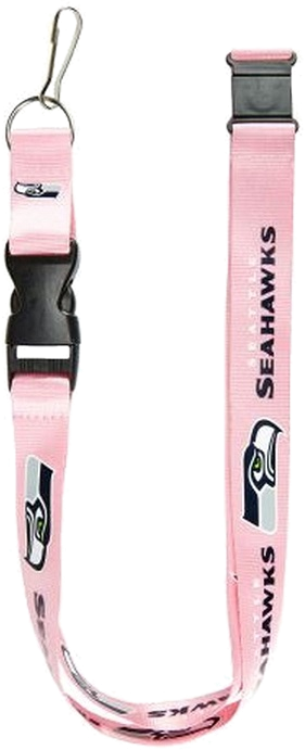 seattle seahawks pink lanyard
